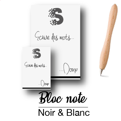 Bloc note noir & blanc