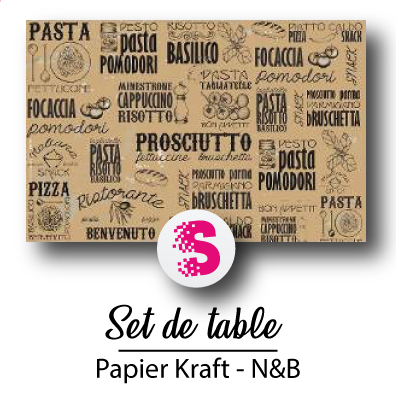 Set de table N&B