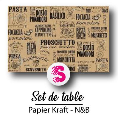 Set de table N&B