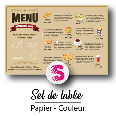 Set de Table Couleur