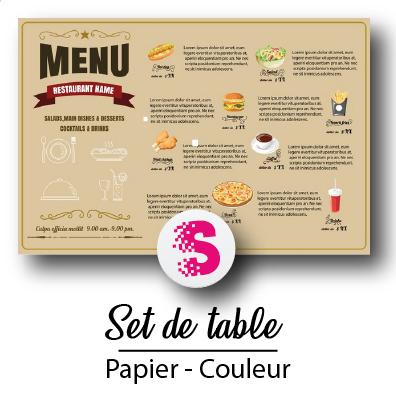 Set De Table Couleur Sendtoprint Imprimerie Numerique Et