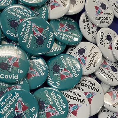 Badge Vacciné COVID