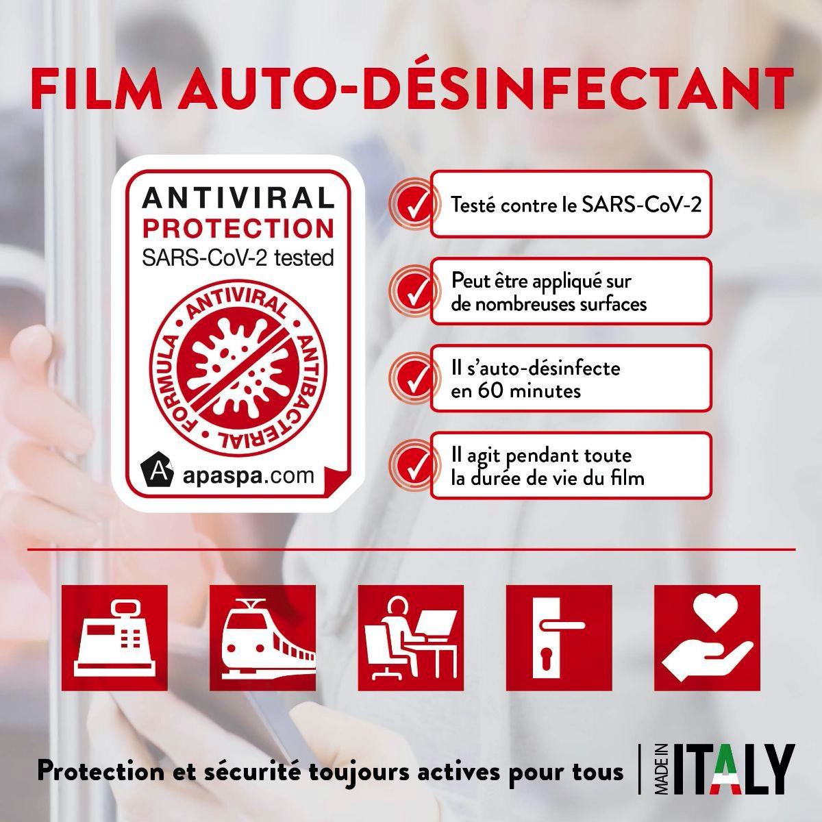 Film Auto-désinfectant